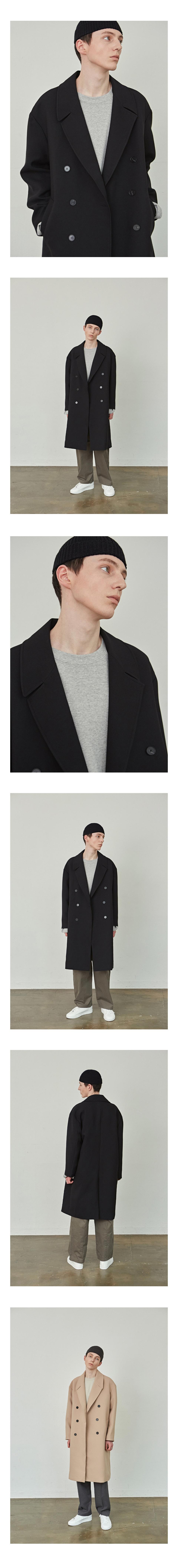 코우코우(COUCOU) Light Long Double Coat_Black
